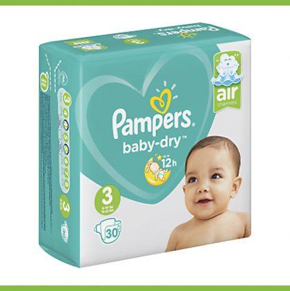 памперси-pampers-baby-dry-n3-30-броя